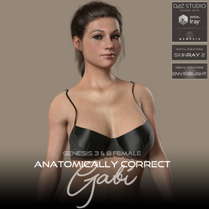 Anatomically Correct: Gabi for Genesis 3 and Genesis 8 Female | Software | Design