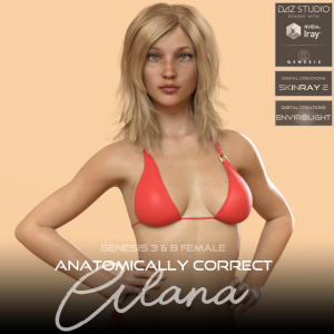 anatomically correct: alana for genesis 3 and genesis 8 female