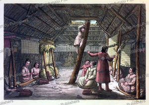 inside view of house of unalaska, gallo gallina, 1820