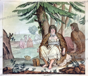 man and woman from port des francais (lituya bay), alaska, angelo biasioli, 1820