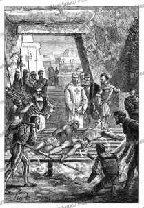 Corte`s tortures Guatimozin, the brother of Montezuma, Paul Philippoteaux, 1870 | Photos and Images | Travel