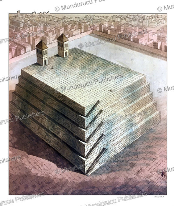 First Additional product image for - Reconstruction of the teocal (Aztec pyramidal temple) of Cholula, Paolo Fumagalli, 1820