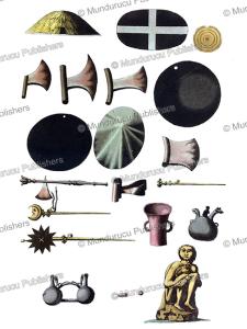 inca grave findings, ferrario, 1820