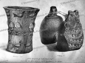 pottery found in tombs and burials in peru, edmond temple, 1830