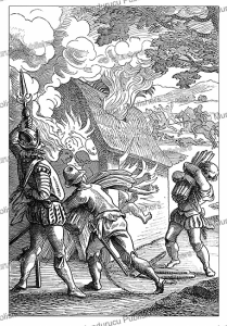 Burning alive of natives of Hispaniola by the Spaniards, Jules Verne, 1870   Photos and Images   Travel