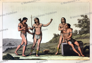 beautiful carib indians, carlo bottigela, 1820