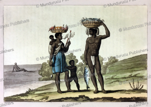 Family of the loango tribe of which the man has letters of his master engraved in his chest, G. Bramati, 1820 | Photos and Images | Travel