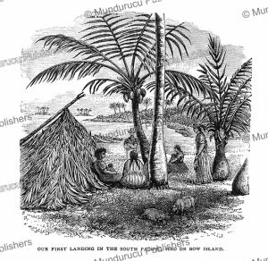 natives of bow (hoa) island, french polynesia, brassey, 1880