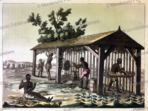 slaves working in a tobacco factory in virginia, g. bramati, 1820