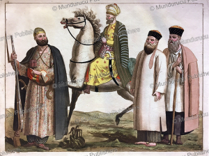 dooraunee or durrani of afghanistan, carlo bottigella, 1818