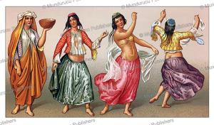dancing persian women, auguste racinet, 1888