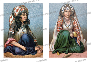young persian nomadic girls from the city of veramin, auguste racinet, 1888