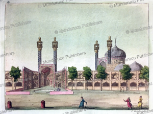the shah mosque or royal mosque in isfahan, g. castellini, 1817
