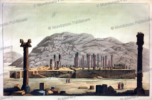 the ruins of persepolis, founded by darius, l. rossi, 1917