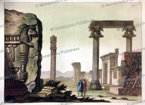 the entrance and columns of persepolis, l. rossi, 1917