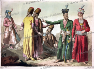 the dress of persians, gallo gallina, 1817