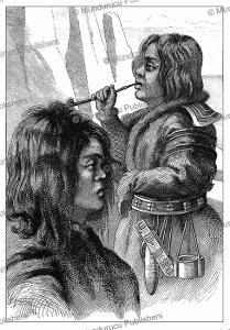 Ainu men, after Krusenstern, Jules Verne, 1870 | Photos and Images | Travel