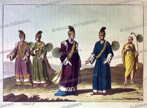 burmese court officials to the emperor, g. bigatti, 1827, 1815