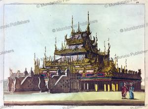 monastery of burmese priests at amarapura, burma, l. rossi, 1816