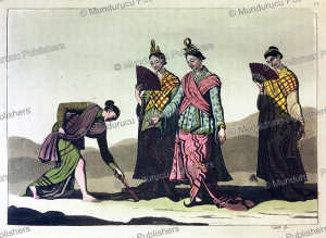 the dress of burmese women, f. castelli, 1815