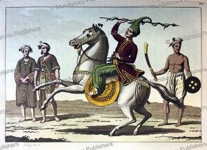 burmese infantry and cavalry, g. bigatti, 1815