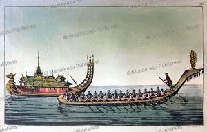 burmese boats, l. rossi, 1816