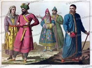 uzbeks and tartars of central asia, angelo biasioli, 1818, 1818