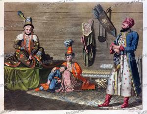 people of tashkent, uzbekistan, c. bottigella, 1818