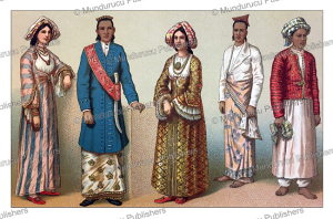 natives of ceylon, india, auguste racinet, 1888