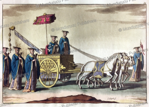 ancient chinese emperor in his chariot, g. bigatti, 1817