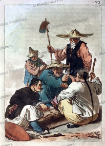 Chinese gambling and games, Gaetano Zancon, 1817 | Photos and Images | Travel