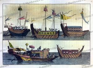 chinese warships, g. bigatti, 1817
