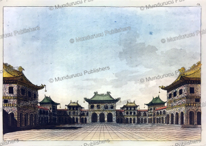 courtyard of the imperial palace in peking, l. rossi, 1817