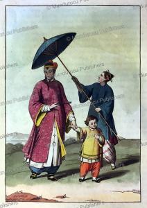the dress of chinese women, g. bigatti, 1815