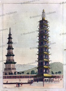 The Porcelain Tower of Nanjing from the Ming dynasty, L. Rossi, 1817 | Photos and Images | Travel