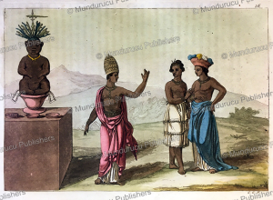 dress of the nobility of ouidah in dahomey, now benin, gallo gallina, 1819