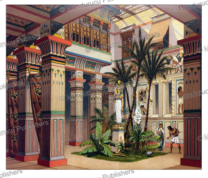 Interior of a house of a wealthy Egyptian, Auguste Racinet, 1888 | Photos and Images | Travel