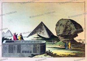 the great pyramid and the sphinx of gizeh, gaetano zancon, 1815