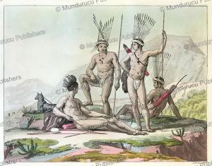 traveling hottentot warrrios, angelo biasioli, 1819.tif