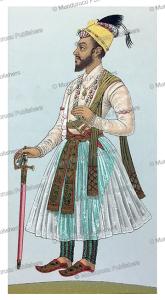 mughal emperor shah alem (1707-1712), auguste racinet, 1888