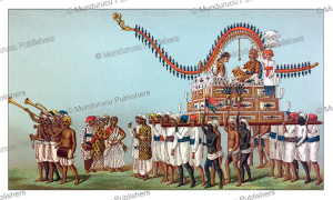chowpaul palanquin exclusive for marriages, india, auguste racinet, 1888