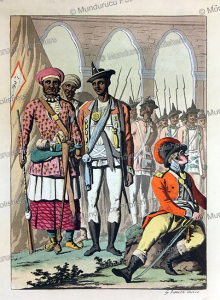 Sepoys or Indian infantrymen in the armies of the Mughal Empire, India, Gaetano Zancon, 1815 | Photos and Images | Travel