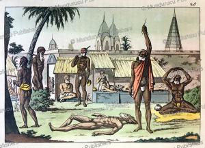 penitent fakirs, india, gaetano zancon, 1815