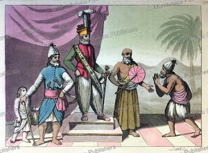 how they dress in hindustan, india, f. castelli, 1815