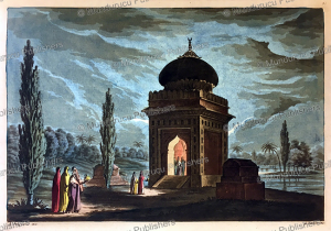 muslims at the tomb of their parents, india, gaetano zancon, 1815