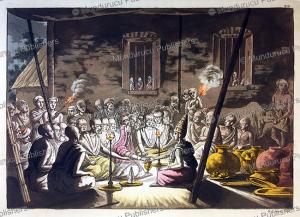 bridal ceremony, india, gaetano zancon, 1815
