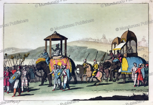 cortege of the great mogul when he went out, g. bigatti, 1815