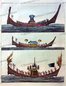 Siamese boats, Thailand, F. Castelli, 1815 | Photos and Images | Travel
