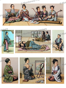 Habits of Japanese women, Auguste Racinet, 1888 | Photos and Images | Travel