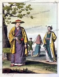 dress of the japanese, antonio rancati, 1817